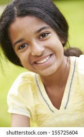 Outdoor Portrait Of Indian Girl