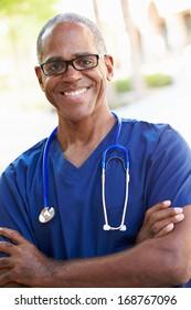 Outdoor Portrait Male Nurse