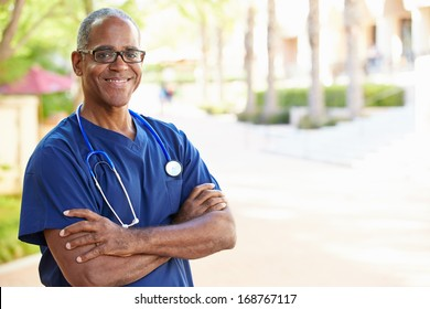Outdoor Portrait Male Nurse