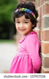 Outdoor Portrait of a Sweet Little Girl