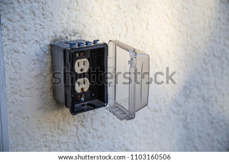 Outdoor Power Plug Electrical Box Waterproof Stock Photo Edit Now
