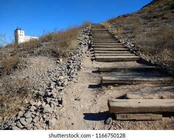 Outdoor Railroad Tie Staircase