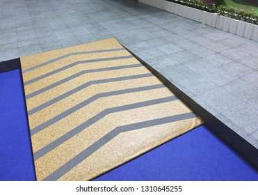 Outdoor ramp disabled way for support wheelchair on different levels of flooring beware.