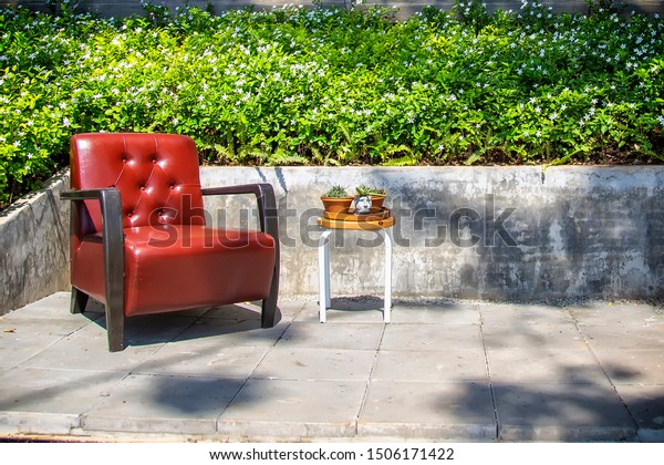 Fine Outdoor Red Sofa Chair Set On Stock Photo Edit Now 1506171422 Bralicious Painted Fabric Chair Ideas Braliciousco