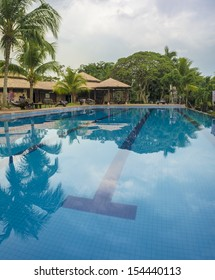 Outdoor resort pool Swimming pool of luxury hotel in Malaysia