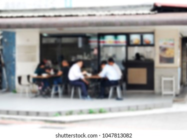 Outdoor restaurant for snacks