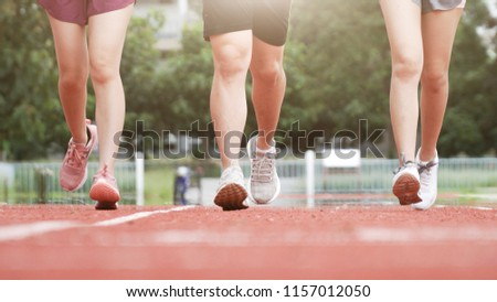 outdoor running workout on trackweight loss stock photo edit now
