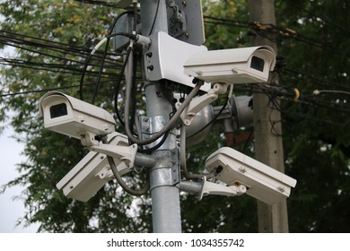 Outdoor Security Camera Installed for Public Safety