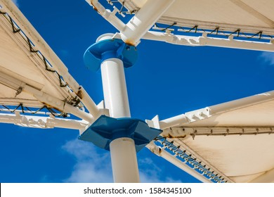 Outdoor shade sail canopy background wallpaper.