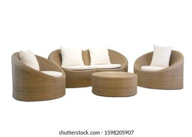 outdoor sofa on white background