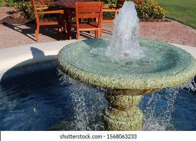 Outdoor Speckled Ceramic Water Fountain