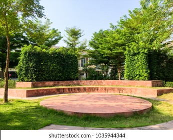 Outdoor stage in the park