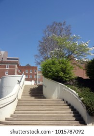 Outdoor Staircase in Downtown Winston-Salem, North Carolina