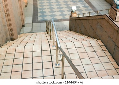 Outdoor stairs in Ebisu Garden Place, Tokyo, Japan