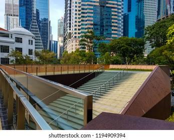 Outdoor stairways in downtown district