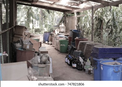 outdoor storage room  with chemical