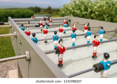 Outdoor table football, baby foot or baby soccer
