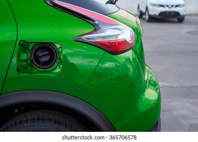 outdoor tank green car