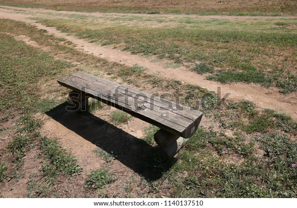 Prime Outdoor View Isolated Wooden Bench Located Stock Photo Edit Lamtechconsult Wood Chair Design Ideas Lamtechconsultcom