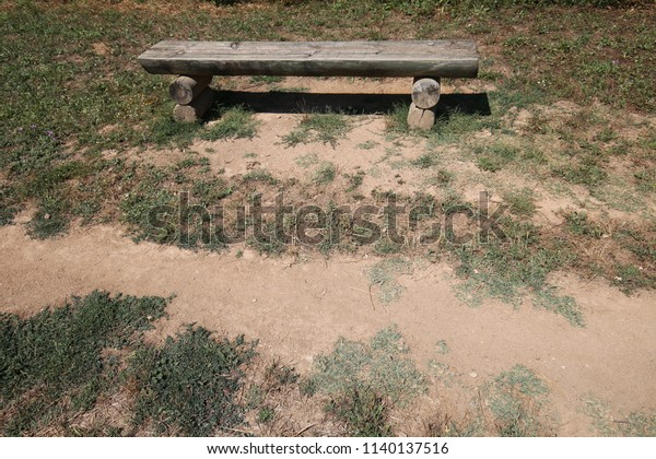 Fantastic Outdoor View Isolated Wooden Bench Located Stock Photo Edit Lamtechconsult Wood Chair Design Ideas Lamtechconsultcom