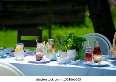 outdoor vintage colerful barbecue party