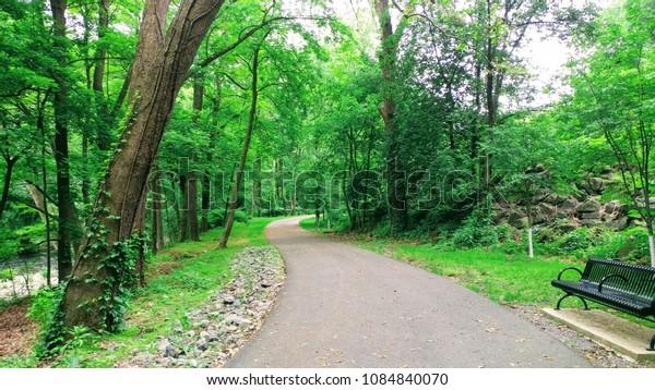 Outdoor walking path