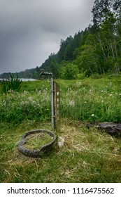 Outdoor water faucet in Washington State