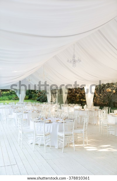 Outdoor Wedding Reception Tent Stock Photo Edit Now 378810361