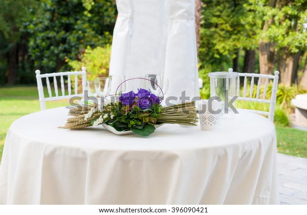 Outdoor Wedding Reception Tent Stock Photo Edit Now 396090421