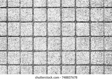 Outdoor white square stone block tile wall background and texture high resolution