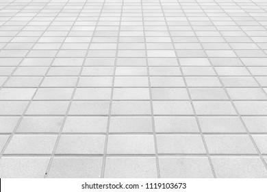 Outdoor white stone block floor tile background