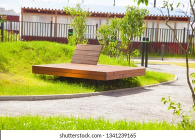 Outdoor yoga wooden terrace