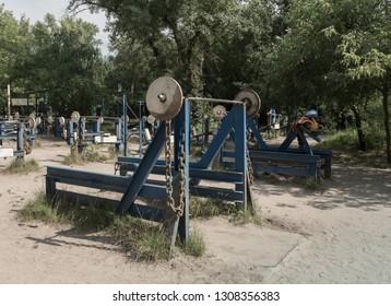 Outdoors gym, public workout park