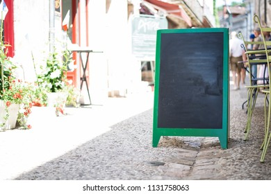 Outdoors restaurant menu design mockup