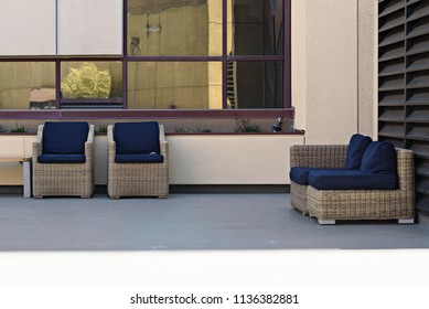 Outdoors Seating with Window Reflection