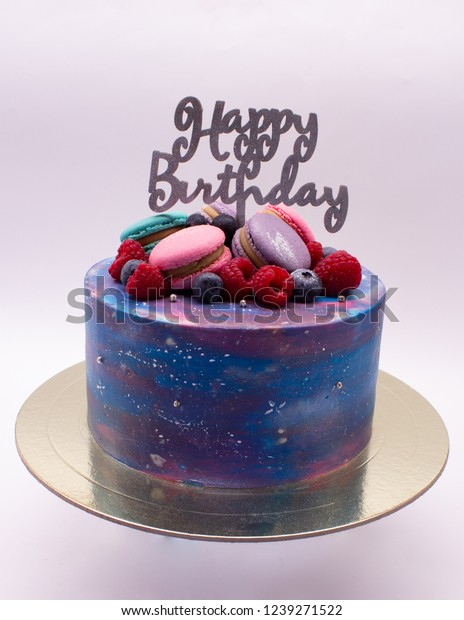 Outstanding Outer Space Cake On White Background Stock Photo Edit Now 1239271522 Funny Birthday Cards Online Sheoxdamsfinfo