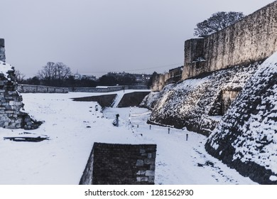 Outer Wall of Kalemegdan Fortress, Belgrade, Serbia