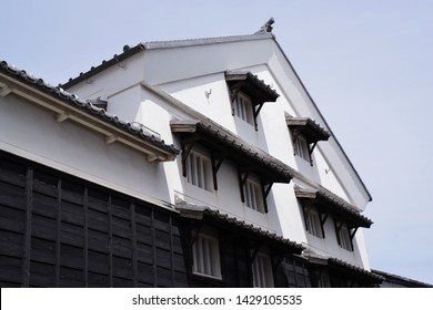 Outer wall of old warehouse in Japan