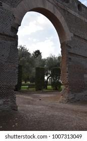 Outer Walls of Hadrian's Villa, Tivoli, Italy, November 26, 2017