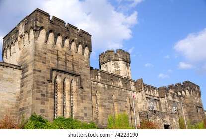 Outer Walls of Historic Eastern State Penitentiary in Philadelphia