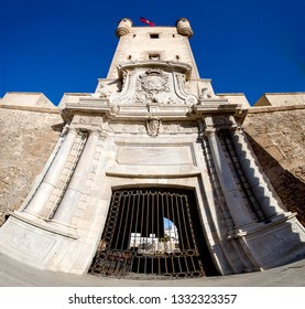Outer walls that separate the old quarter and the modern zone of the city of Cadiz, Spain