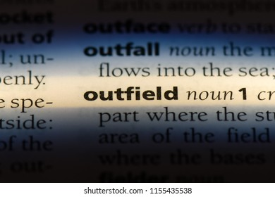 outfield word in a dictionary. outfield concept.