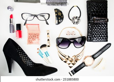 Outfit of business woman in office
