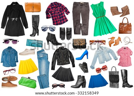 outfits clothes woman accessories stock photo edit now 332158349