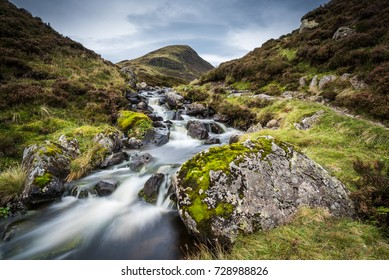 The Outflow from Loch Skeen on Tail Burn above The Grey Mares Ta