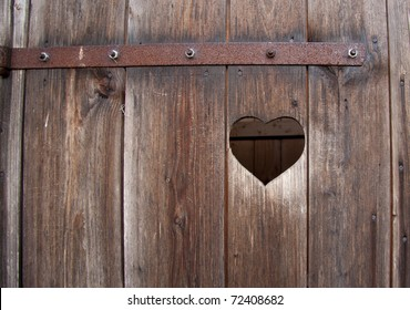 Outhouse heart detail