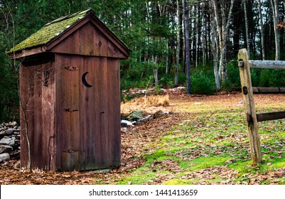 Outhouse on the country farm.