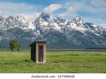 Outhouse on Mormon Row, Grand Teton National park