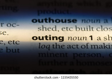 outing word in a dictionary. outing concept.
