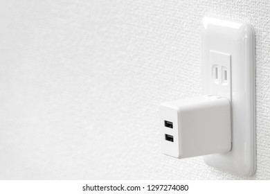 Outlet and USB power adapter
